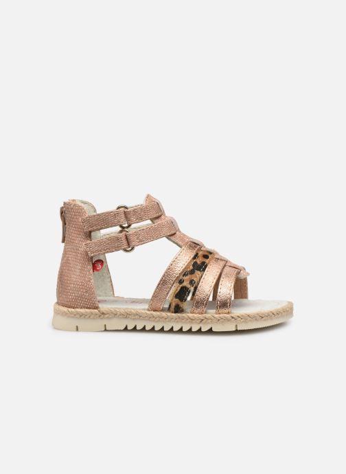 Sandales et nu-pieds NA! Adelina Or et bronze vue derrière