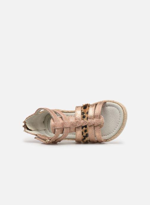 Sandales et nu-pieds NA! Adelina Or et bronze vue gauche