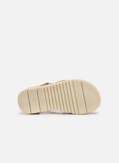 Sandales et nu-pieds NA! Adelina Or et bronze vue haut