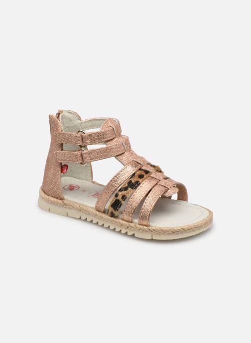 Sandales et nu-pieds NA! Adelina Or et bronze vue détail/paire