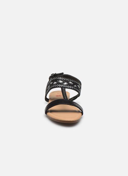 Sandales et nu-pieds NA! Samos Noir vue portées chaussures
