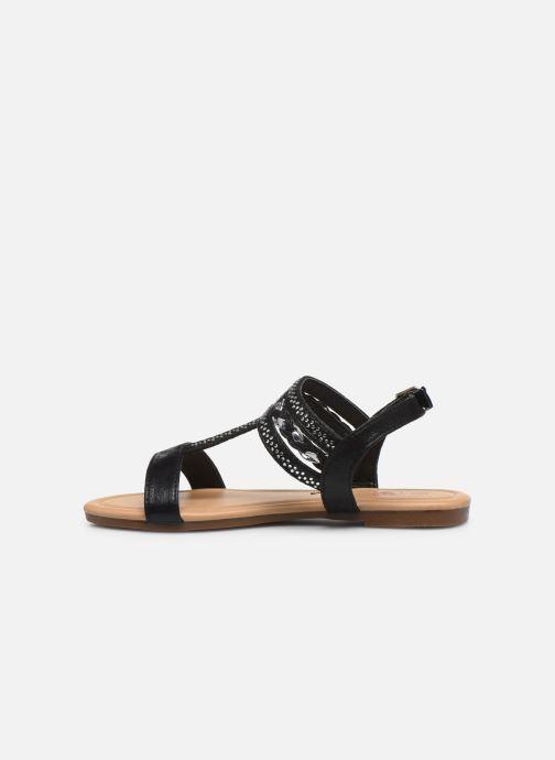 Sandales et nu-pieds NA! Samos Noir vue face