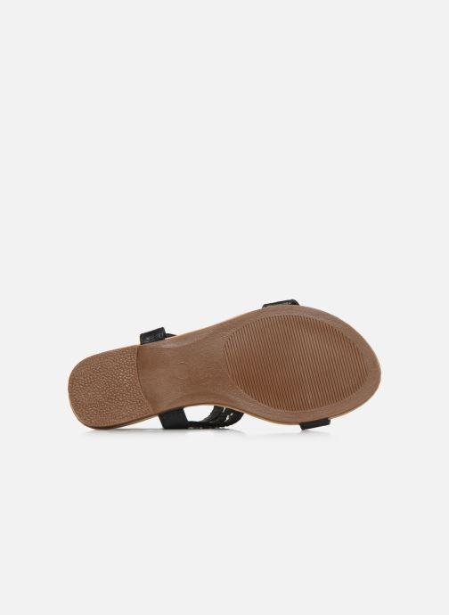 Sandales et nu-pieds NA! Samos Noir vue haut