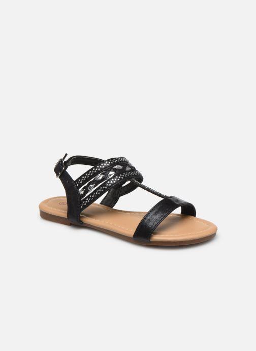 Sandales et nu-pieds NA! Samos Noir vue détail/paire