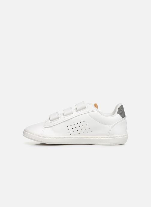 Sneakers Le Coq Sportif Courtstar Ps Denim Wit voorkant