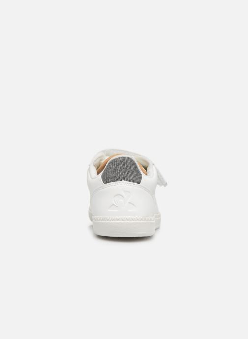 Sneakers Le Coq Sportif Courtstar Ps Denim Wit rechts