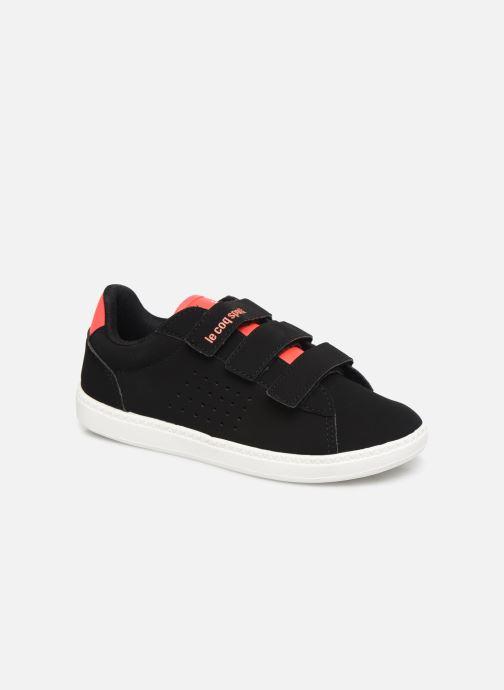 Sneakers Le Coq Sportif Courtstar Ps Sport Girl Zwart detail