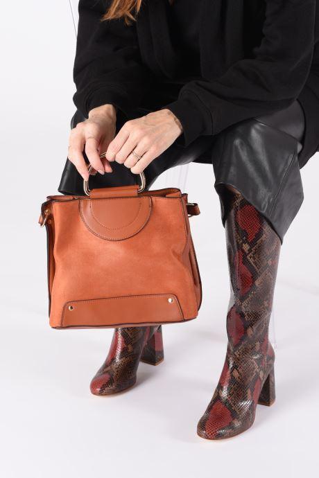 Sacs à main I Love Shoes BASEC Marron vue bas / vue portée sac