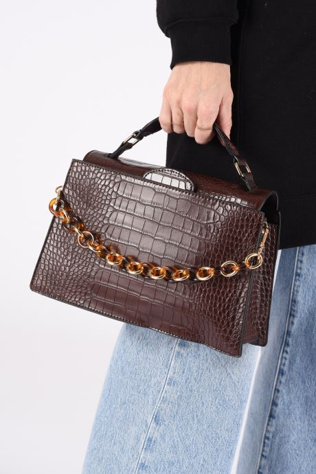 Handtaschen I Love Shoes BAJOUX braun ansicht von unten / tasche getragen