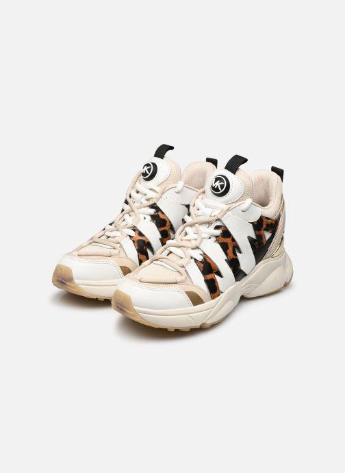 Sneaker Michael Michael Kors Hero Trainer beige ansicht von unten / tasche getragen