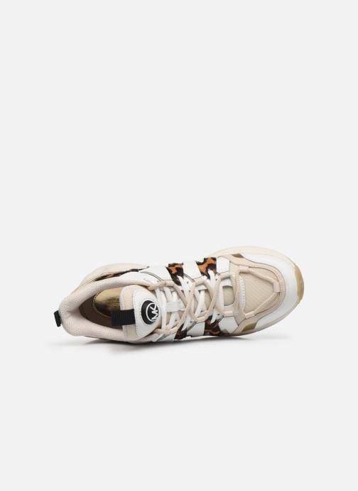 Sneakers Michael Michael Kors Hero Trainer Beige immagine sinistra