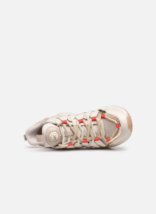 Sneaker Michael Michael Kors Hero Trainer beige ansicht von links