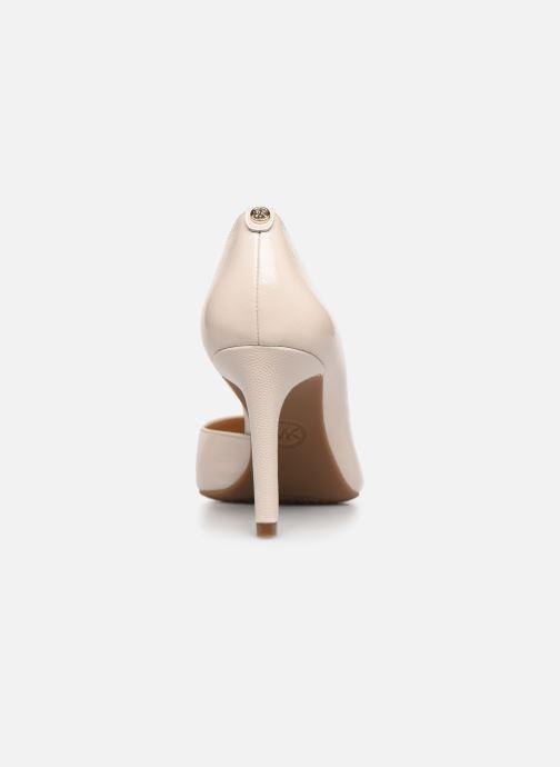 Zapatos de tacón Michael Michael Kors Dorothy Flex Dorsay Blanco vista lateral derecha