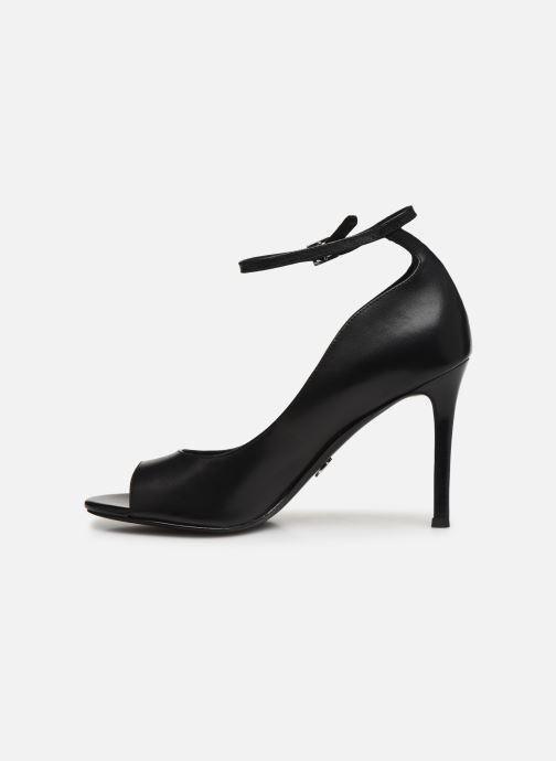 Zapatos de tacón Michael Michael Kors Danielle Open Toe Negro vista de frente