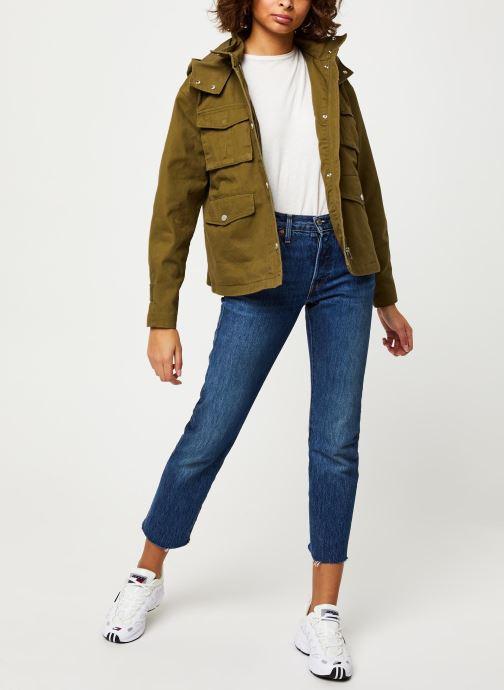 Kleding Tommy Jeans TJW Pleat Detail Sleeve Jacket Groen onder