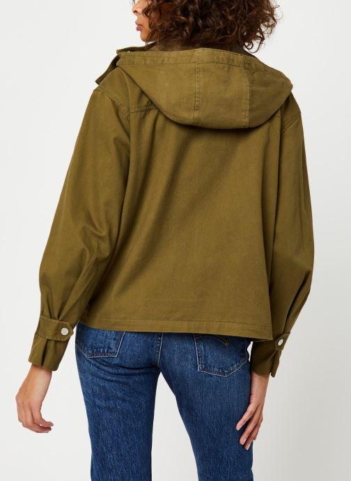 Kleding Tommy Jeans TJW Pleat Detail Sleeve Jacket Groen model