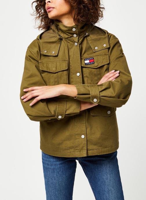 Kleding Tommy Jeans TJW Pleat Detail Sleeve Jacket Groen rechts