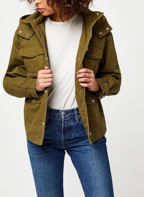 Kleding Tommy Jeans TJW Pleat Detail Sleeve Jacket Groen detail