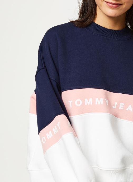 Vêtements Tommy Jeans TJW Colorblock Crew Blanc vue face