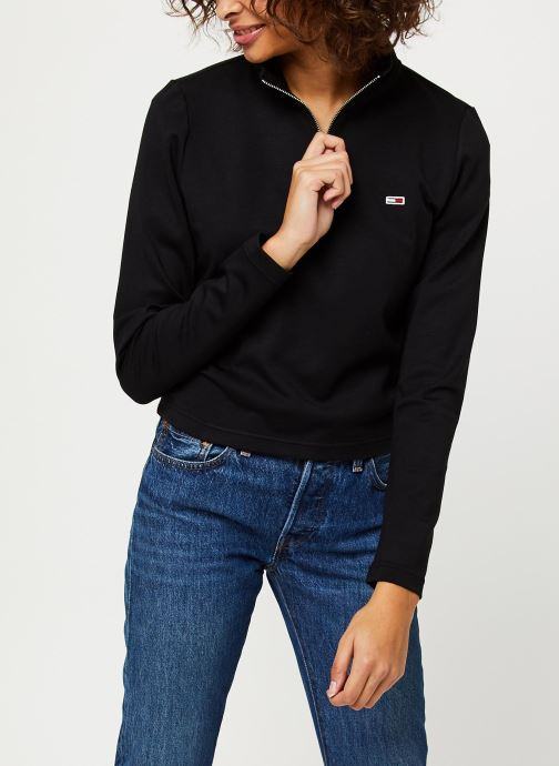 Vêtements Tommy Jeans TJW Tape Detail Longsleeve Noir vue détail/paire