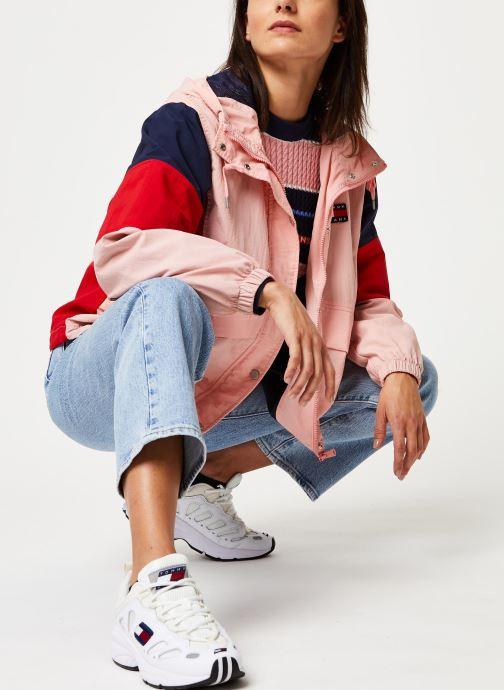 Vêtements Tommy Jeans TJW Contrast Panel Rose vue bas / vue portée sac