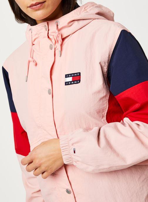 Vêtements Tommy Jeans TJW Contrast Panel Rose vue face