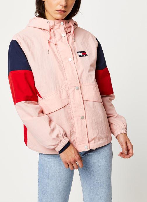 Vêtements Tommy Jeans TJW Contrast Panel Rose vue détail/paire