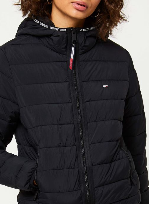 Vêtements Tommy Jeans TJW Quilted Tape Detail Jacket Noir vue face