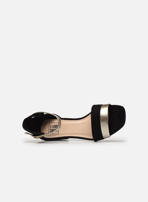 Sandales et nu-pieds I Love Shoes DIBELLO Noir vue gauche