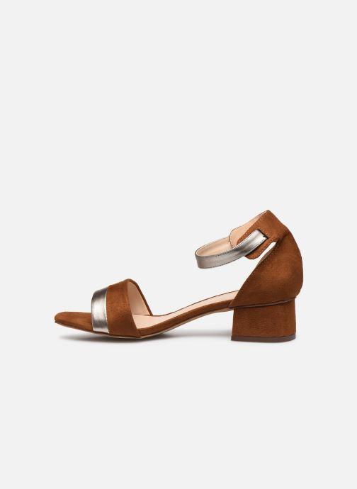 Sandalen I Love Shoes DIBELLO braun ansicht von vorne