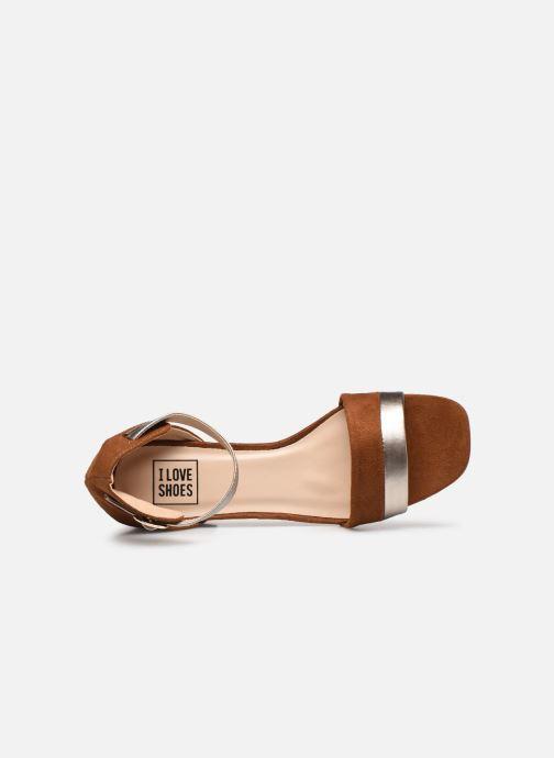 Sandalen I Love Shoes DIBELLO braun ansicht von links
