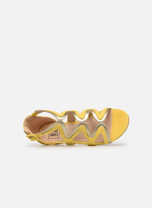 Sandalias I Love Shoes DILOTTO Amarillo vista lateral izquierda