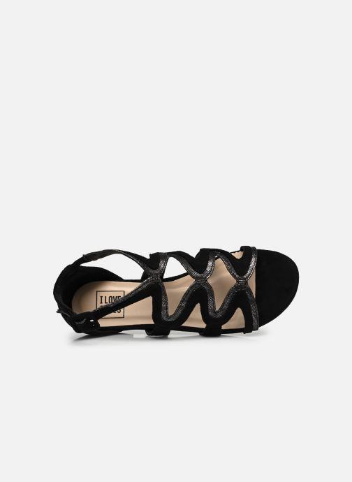 Sandalias I Love Shoes DILOTTO Negro vista lateral izquierda