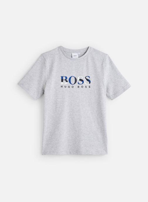 Vêtements BOSS T-shirt J25E64 Gris vue détail/paire