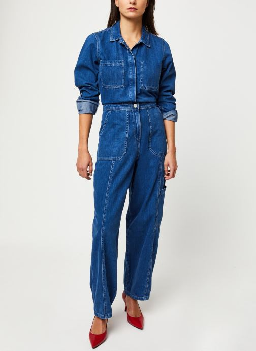 Vêtements Tommy Jeans TJW Regular Jumpsuit Mcmd Bleu vue bas / vue portée sac
