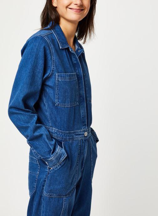 Vêtements Tommy Jeans TJW Regular Jumpsuit Mcmd Bleu vue droite