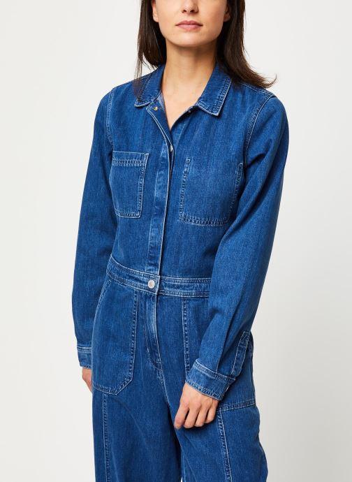 Vêtements Tommy Jeans TJW Regular Jumpsuit Mcmd Bleu vue détail/paire