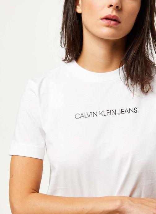 Vêtements Calvin Klein Jeans Shrunken Institutional Logo Tee Blanc vue face