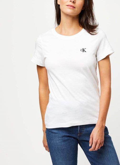 Vêtements Accessoires CK Embroidery Slim Tee