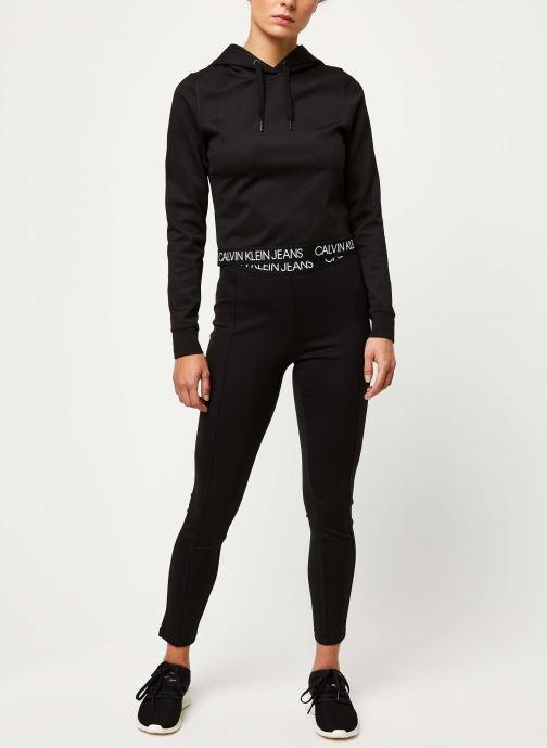 Vêtements Calvin Klein Jeans Logo Elastic Milano Leggings Noir vue bas / vue portée sac