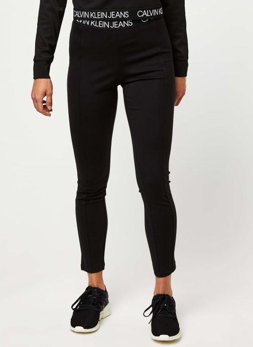Vêtements Calvin Klein Jeans Logo Elastic Milano Leggings Noir vue détail/paire