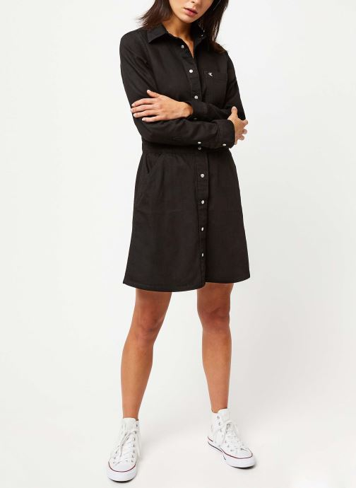Vêtements Calvin Klein Jeans Long Sleeve Desert Dress Noir vue bas / vue portée sac