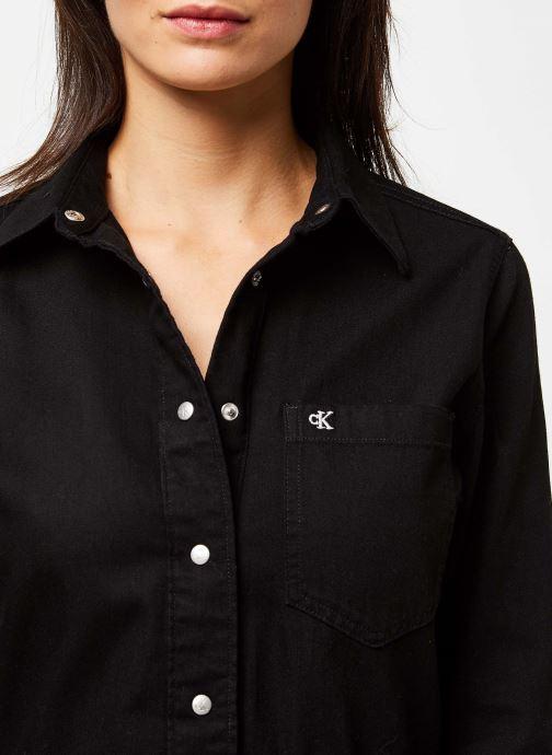 Vêtements Calvin Klein Jeans Long Sleeve Desert Dress Noir vue face