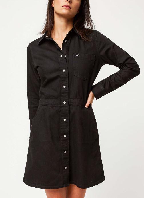 Vêtements Calvin Klein Jeans Long Sleeve Desert Dress Noir vue détail/paire