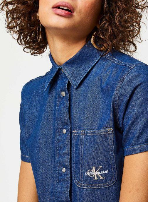 Vêtements Calvin Klein Jeans Short Sleeve Desert Diner Dress Bleu vue face