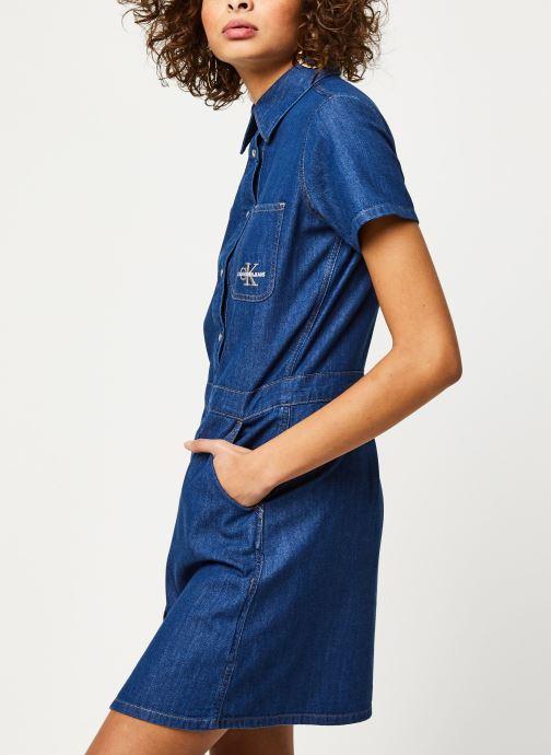 Vêtements Calvin Klein Jeans Short Sleeve Desert Diner Dress Bleu vue détail/paire