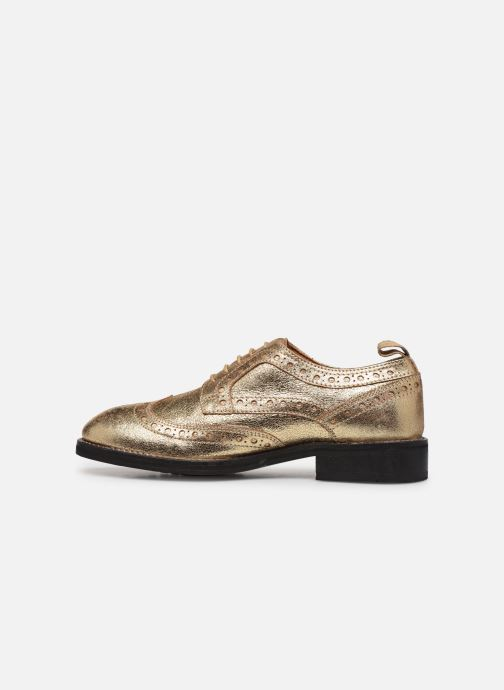 Chaussures à lacets Pepe jeans Hackney Met Or et bronze vue face