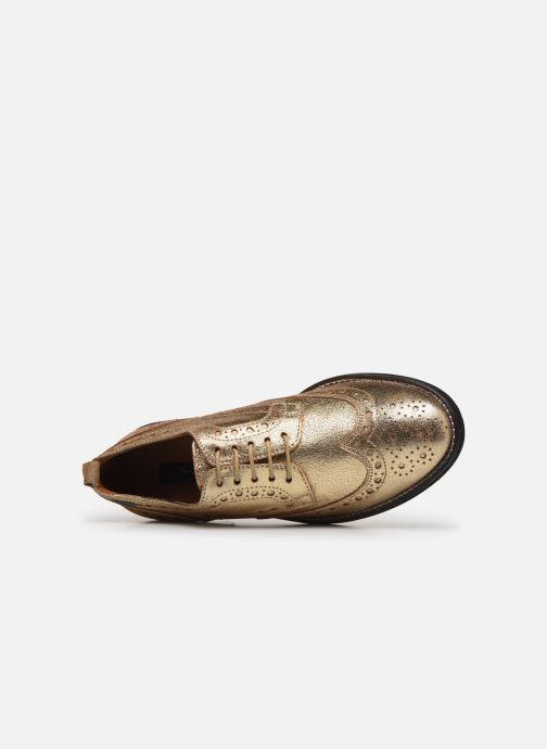 Chaussures à lacets Pepe jeans Hackney Met Or et bronze vue gauche