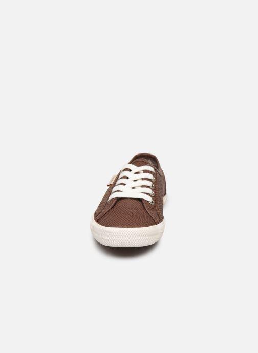 Baskets Pepe jeans Aberlady Python Marron vue portées chaussures