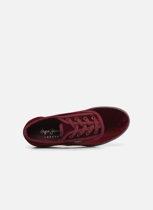 Sneakers Pepe jeans Hannah Velvet Bordò immagine sinistra